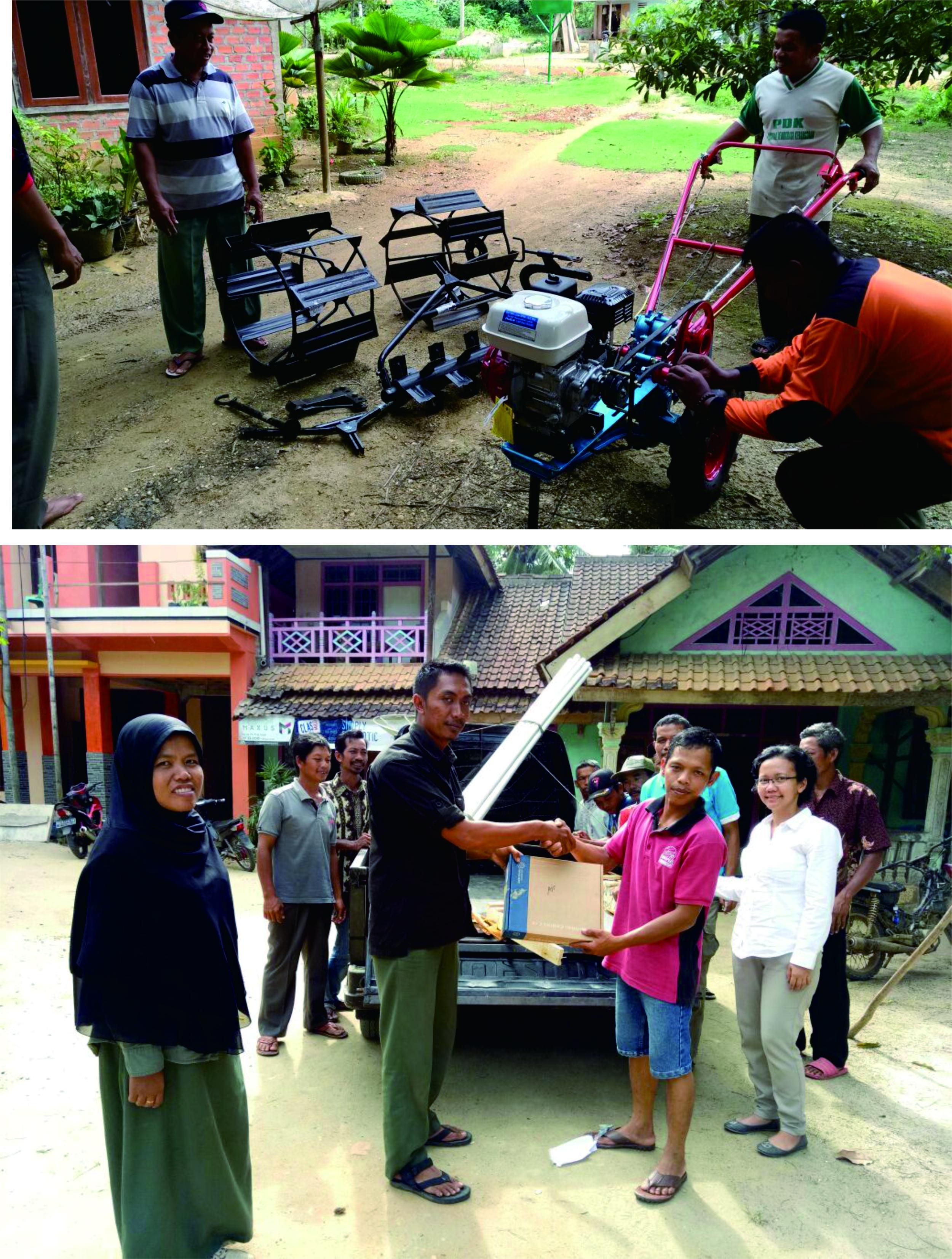 Penyerahan bantuan fasilitasi Pemberdayaan masyarakat Desa ...